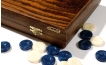 Greek Walnut Backgammon Set with Double Inlays (3)