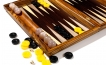Zebrawood Backgammon Set with Racks (2)