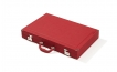 Red Attache Backgammon Set with Composite Field (2)