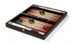 Wood Backgammon Set in Wenge w/ Leather Field (3)