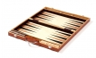 Burl Camphor Wood Backgammon Set (2)