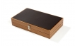 Wood Backgammon Set in Zebrawood w/ Leather Field (2)