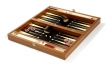 Wood Backgammon Set in Zebrawood w/ Leather Field (3)