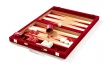 Cork Backgammon Set in Burgundy Corduroy