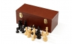 Leather Chess Storage Cabinet in Brown