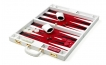 Leather Backgammon Set in White