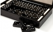Swarovski Crystal Dominoes in Black Alligator Case