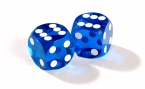 Blue Backgammon Precision Dice (2)