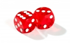 Red Backgammon Precision Dice (2)
