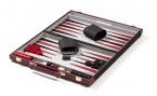 Burgundy Backgammon Set with Black Accent (4)