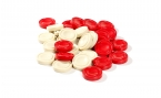 Classic Red and White Grooved Checkers (2)