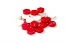 Red and White Backgammon Checkers (2)