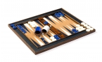 Cork Tabletop Backgammon Set in Blue (4)