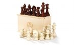 Chess Pieces in Brown (3)