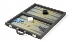 Gray Attache Backgammon Set with Composite Field (3)
