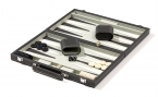 Gray Backgammon Set in Leatherette (4)