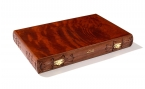 Carved Rosewood Backgammon Set with Racks (4)
