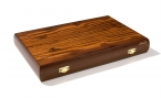 Greek Walnut Backgammon Set with Racks (4)