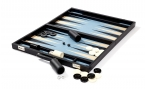 prestige ebony blue backgammon set (open)