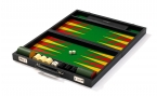 leather backgammon club set (open)