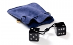 Swarovski Crystal Dice Set in Leather Pouch (2)