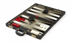 Attache Backgammon Set with Gray Velour Field (4)