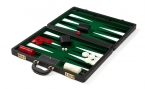 Attache Backgammon Set with Green Velour Field (4)