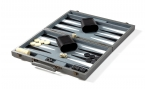 Silver Backgammon Set (open)