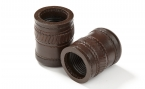 Backgammon Dice Cups in Brown w/ Rustic Pattern