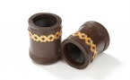 Backgammon Dice Cups in Brown w/ Gold Accent