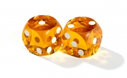 Amber Backgammon Precision Dice (2)