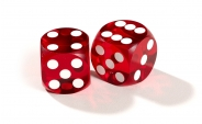 Dark Red Backgammon Precision Dice (2)