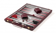 Textured Burgundy Backgammon Set (4)