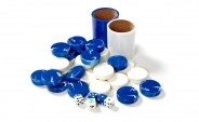 Blue and White Backgammon Kit (4)