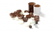 Brown and White Backgammon Kit (4)
