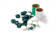 Green and White Backgammon Kit (4)