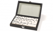 Double 6 Dominoes Set in Charcoal Gray Case (3)