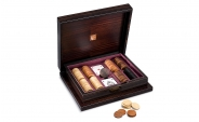 Lacquered Macassar Poker Set in Aubergine Leather (1)