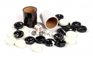 Black and White Backgammon Kit (1)