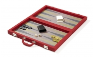 Red Attache Backgammon Set with Composite Field (3)