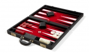 Attache Backgammon Set with Red Velour Field (3)