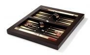 Wood Tabletop Backgammon Set w/ Leather Field (2)