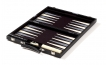 Black Backgammon Set with Gray Stripe (2)