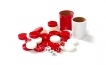 Red and White Backgammon Kit (4)