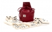 Dominoes Set in Bordeaux Leather Pouch (2)