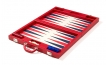 Luxury Backgammon Set in Red Leatherette (2)