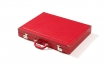 Luxury Backgammon Set in Red Leatherette (3)