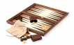 Wood Backgammon Set in Royal Walnut and Leather (2)