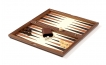 Wood Backgammon Set in Royal Walnut and Leather (3)