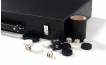 Leather Backgammon Set in Black w/ Leather Pieces (6)